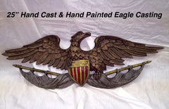 Draped Banner Eagle Plaque-Limited Edition