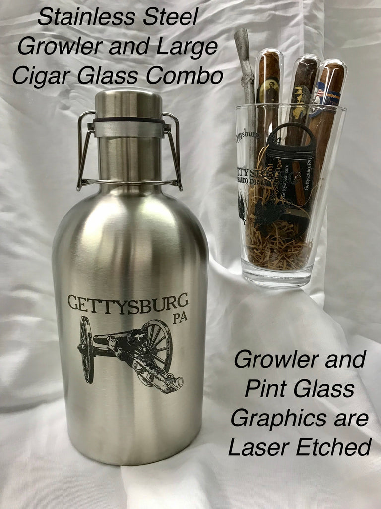 Growler and Cigar Glass Combo-Large