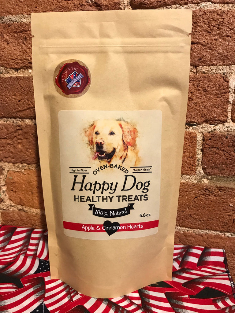 Happy Dog Healthy Treats-Apple & Cinnamon Hearts