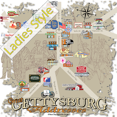 Great Gettysburg Addresses™-Ladies, V-Neck, Short Sleeve, T-Shirt