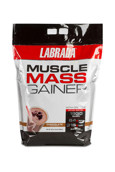 Labrada Mass Gainer - Muscle Mass Gainer - 12 Lbs Chocolate Flavor