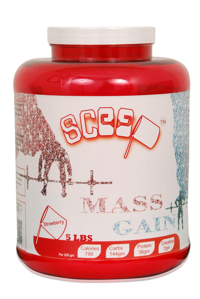 Scoop mass gain 5lbs strawberry flavour