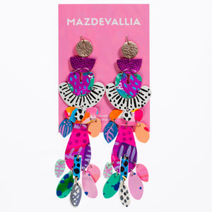 Kaleidoscope Jungle Earrings