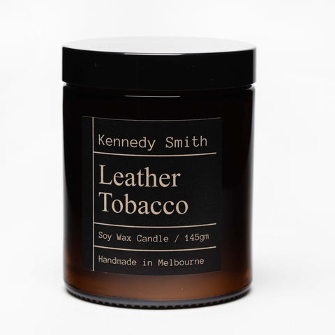 Leather Tobacco Soy Candle