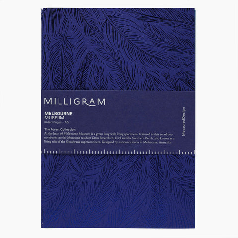 Milligram X Melbourne Museum Forest Gallery Notebook (Ruled)