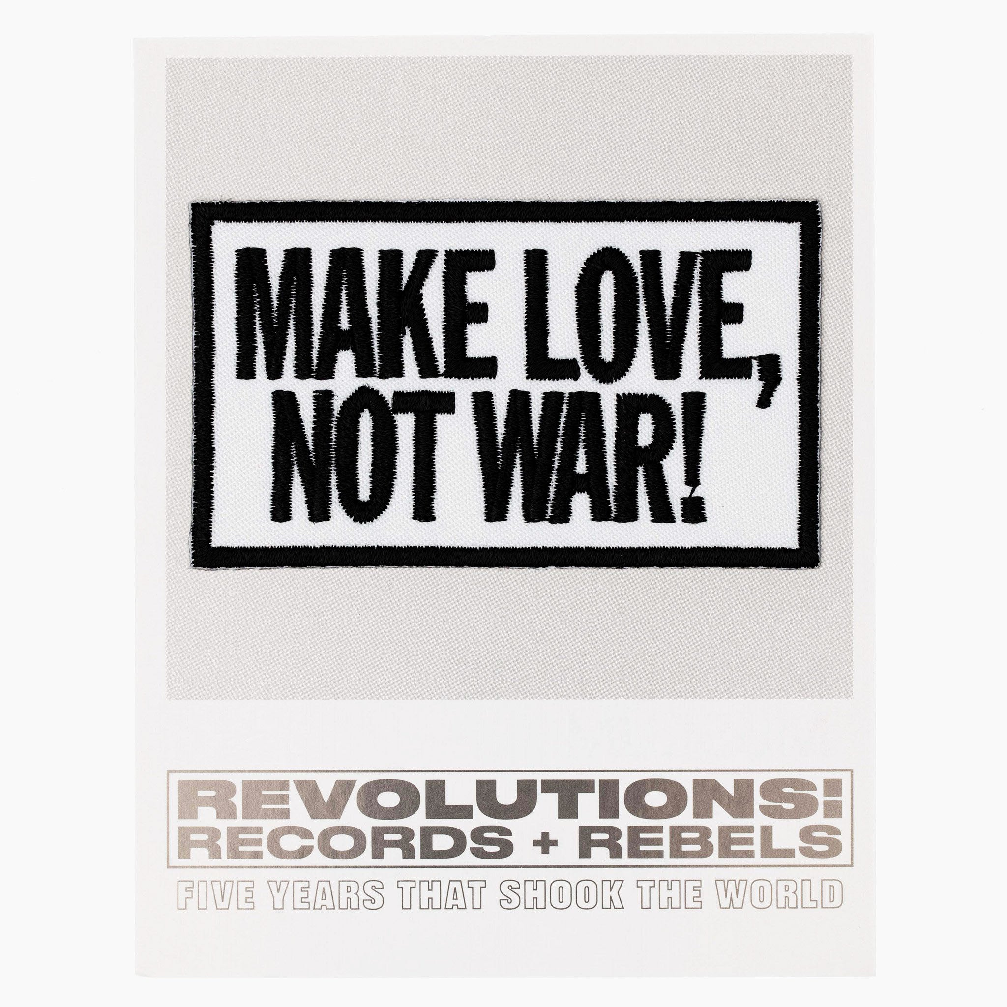 Make Love Not War Fabric Patch