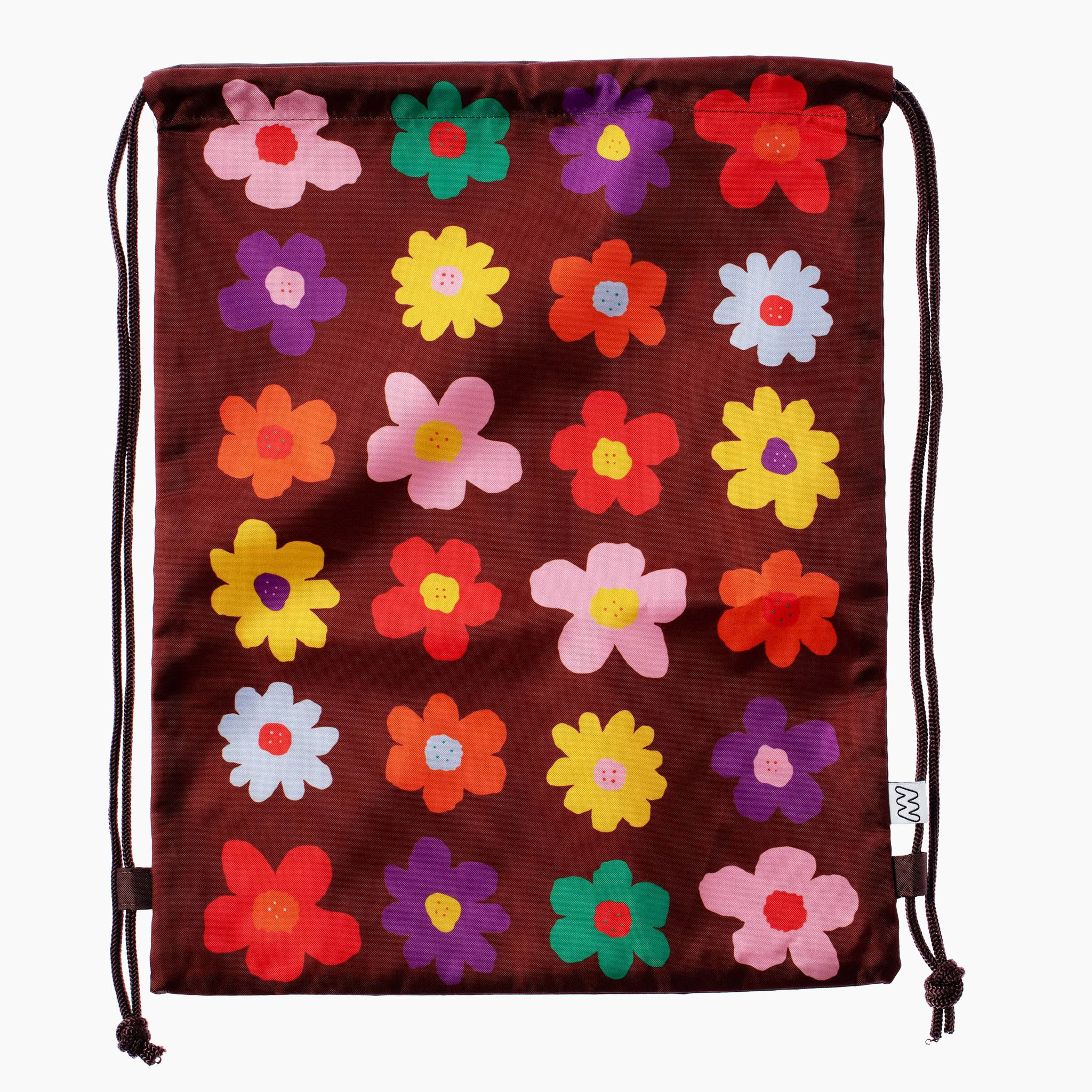 Retro Flower Drawstring Bag