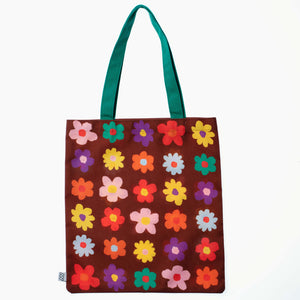 Retro Flower Tote Bag