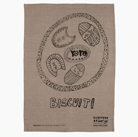 Yoyo Biscuit Tea Towel