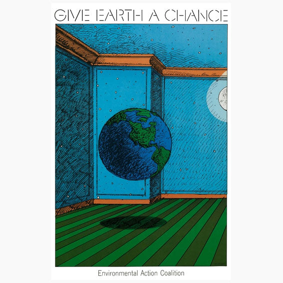 Milton Glaser - Give Earth a Chance Original Print