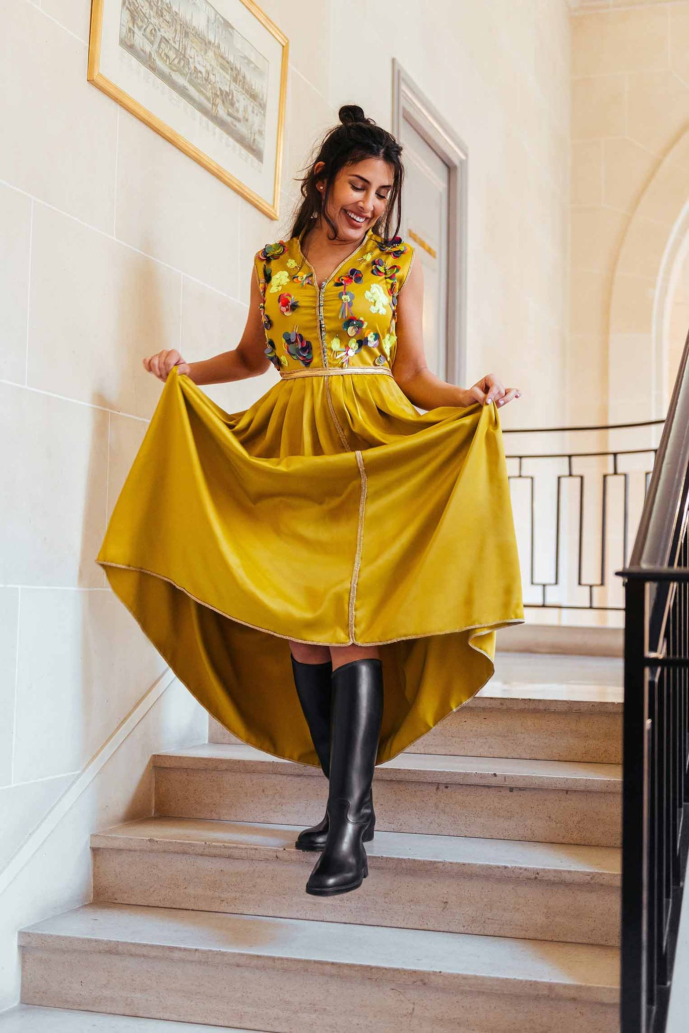 Robe inspiration orientale Culture Pop jaune