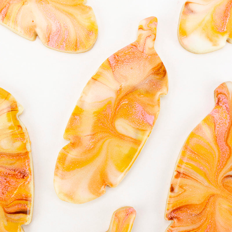 MARBLED FEATHER COOKIES