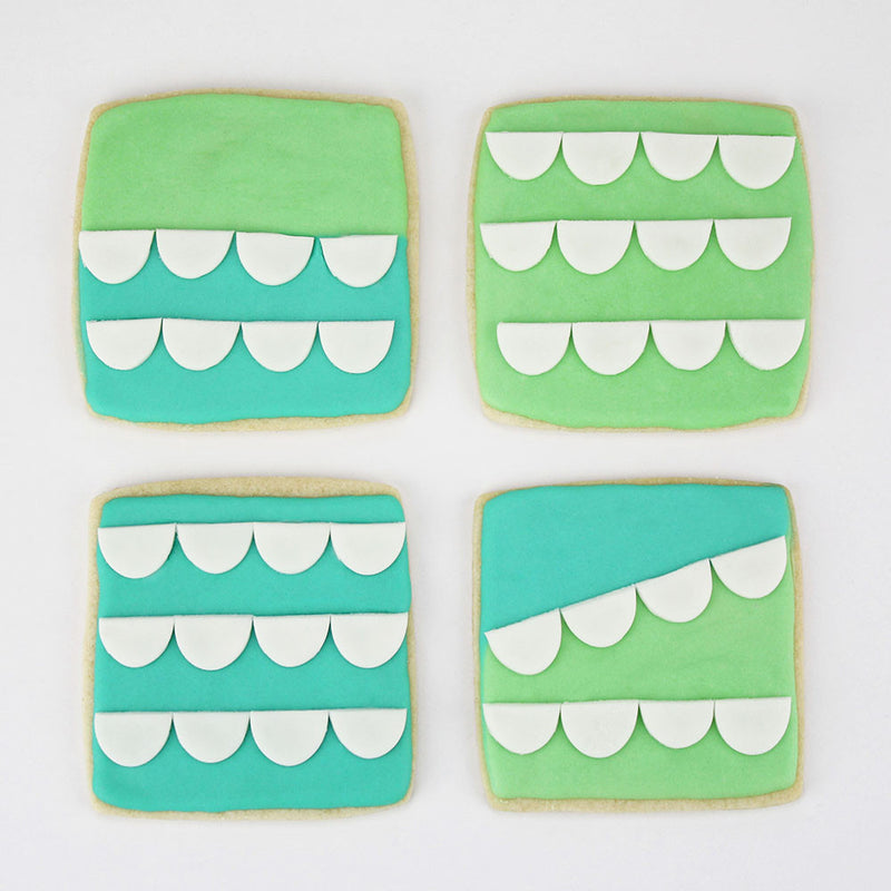 MINTY SCALLOP SQUARE COOKIES