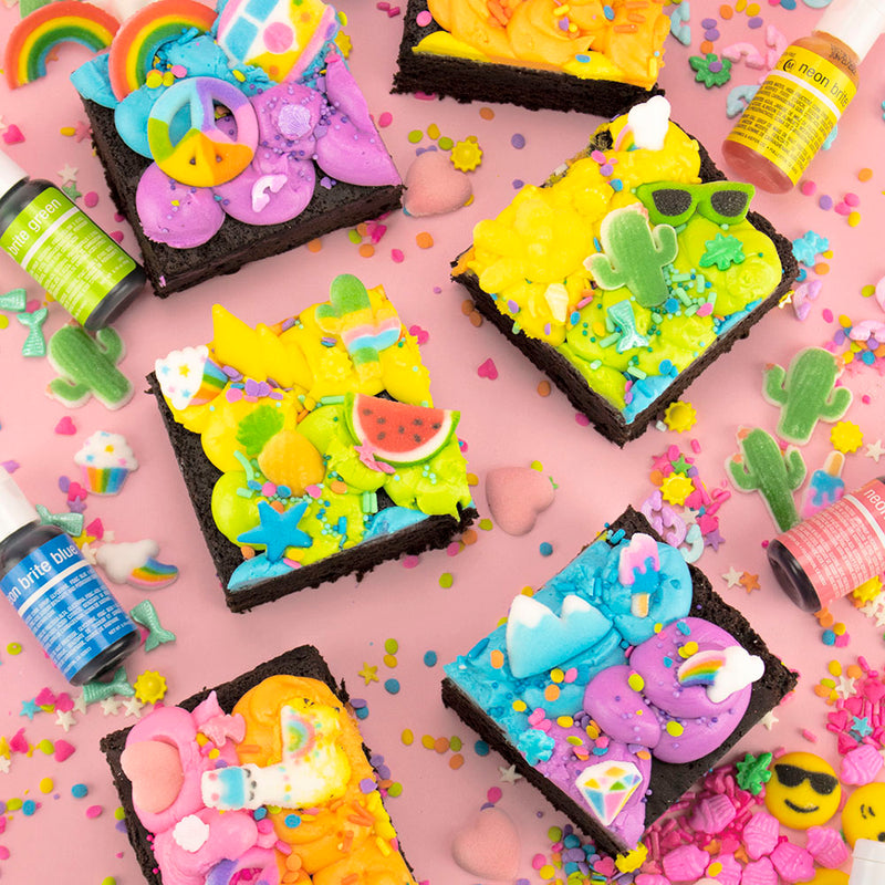 RAINBOW PARTY BROWNIES