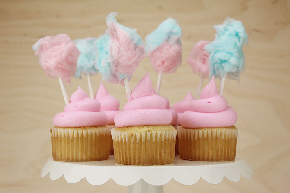 Pink Cotton Candy Cupcakes Layer Cake Shop