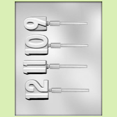 9 10 11 12 Lollipop Chocolate Mold