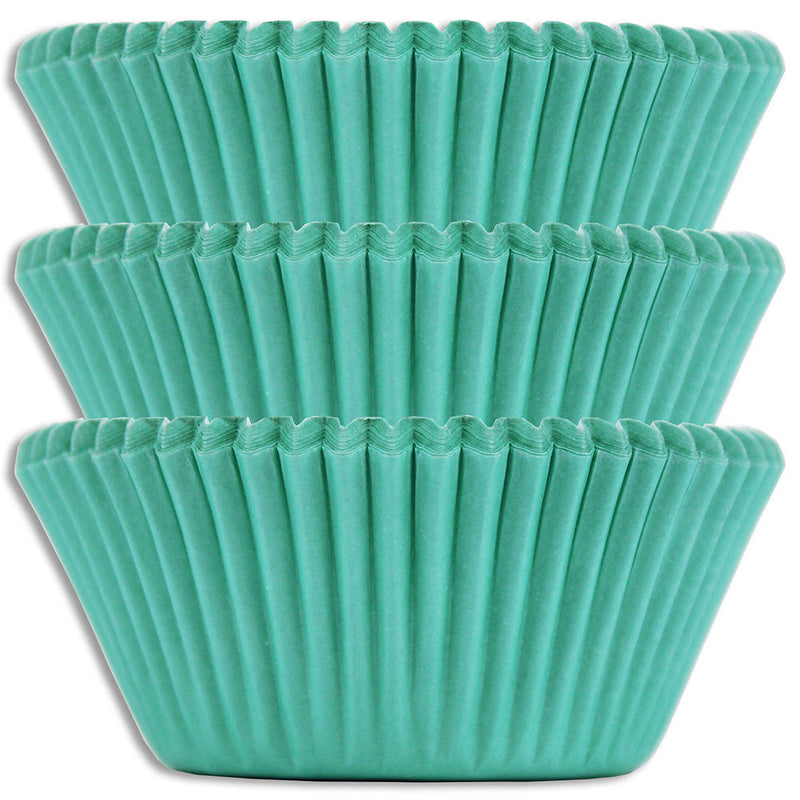 Solid Aqua Baking Cups