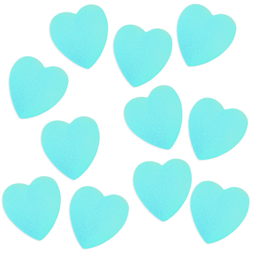 Aqua Blue Heart Sugars