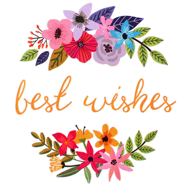 Best Wishes Wildflower Edible Image