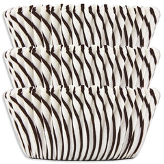Black Candy Stripe Baking Cups