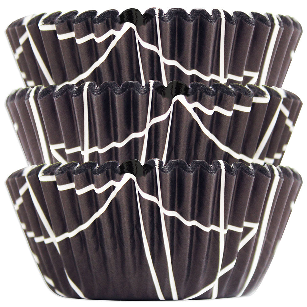 Black Mod Lines Baking Cups