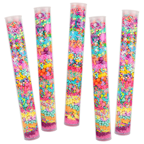 Bright Rainbow Sprinkle Surprise Tube