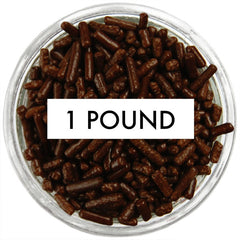 Chocolate Brown Jimmies 1 LB