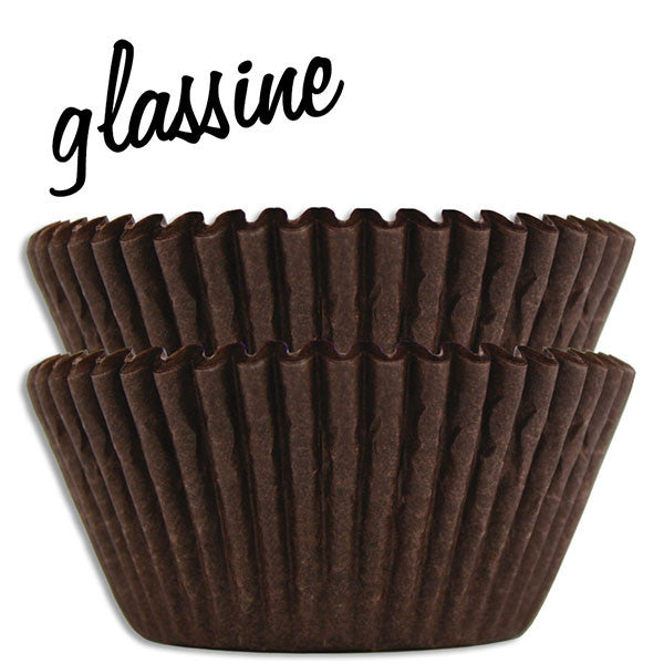 Brown Glassine Baking Cups