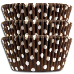 Brown Polka Dot Baking Cups