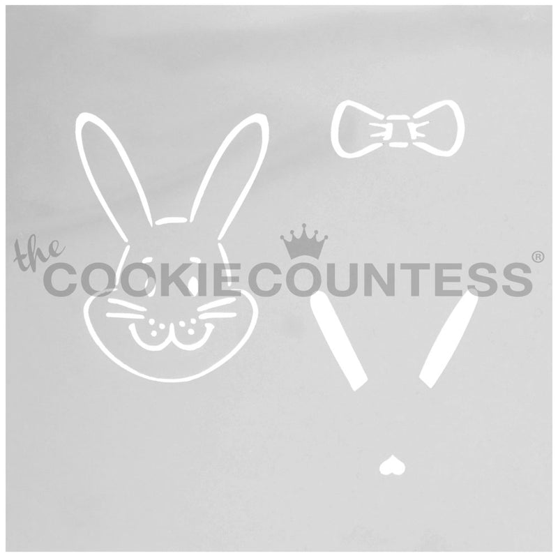 Build A Bunny Cake & Cookie Stencil