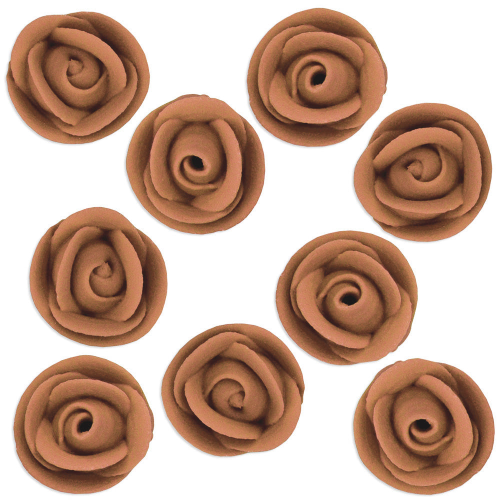 Chocolate Brown Icing Roses