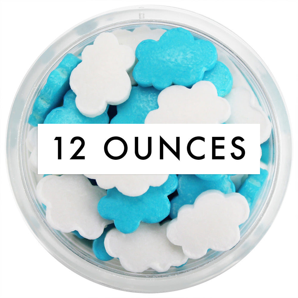 Blue & White Cloud Candy Sprinkles 12 OZ