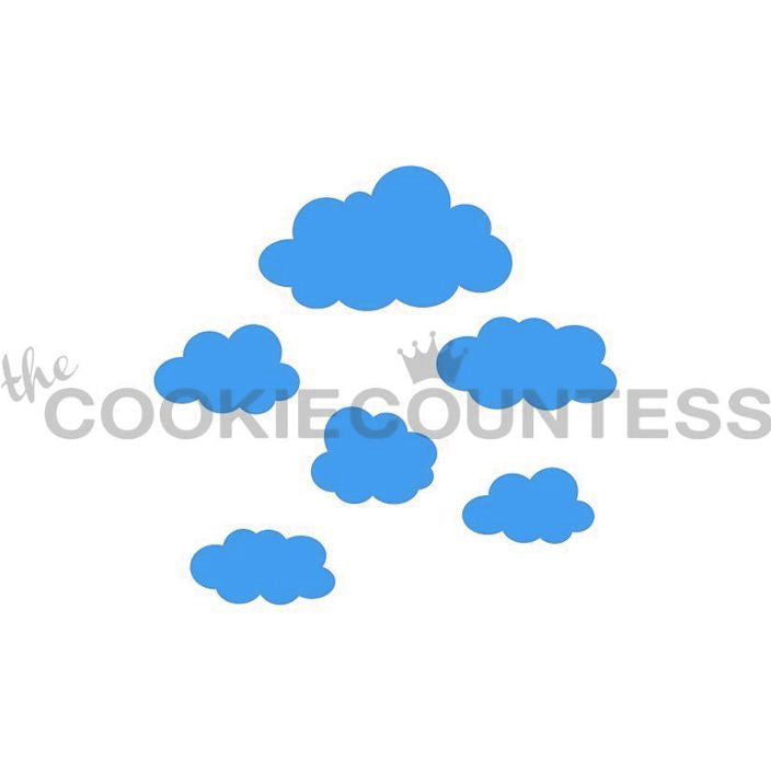 Clouds Cake & Cookie Stencil