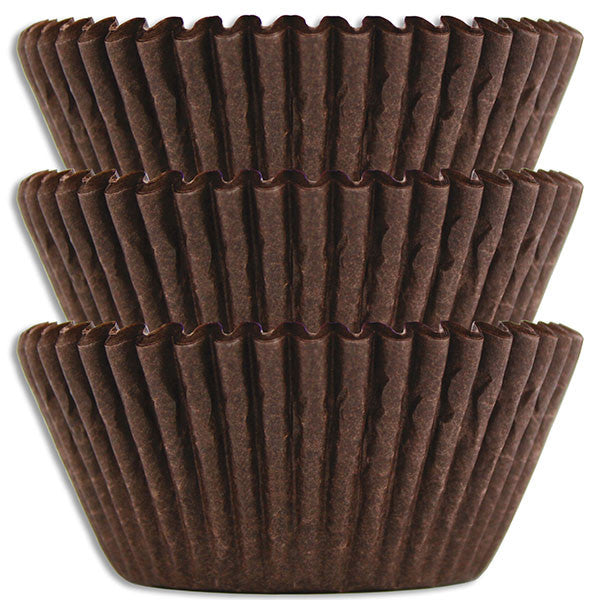 Deep Brown Baking Cups