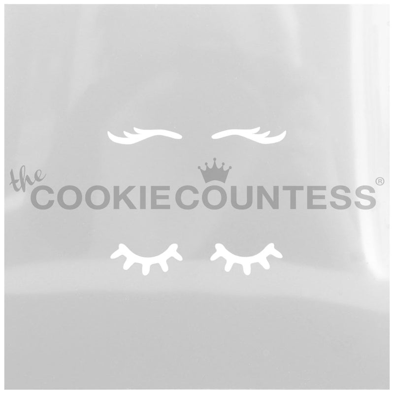 Eyelashes Cake & Cookie Stencil