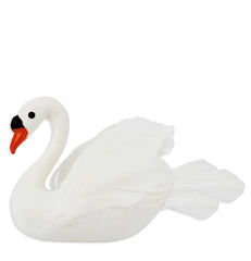 Feathery White Swan Cake Topper