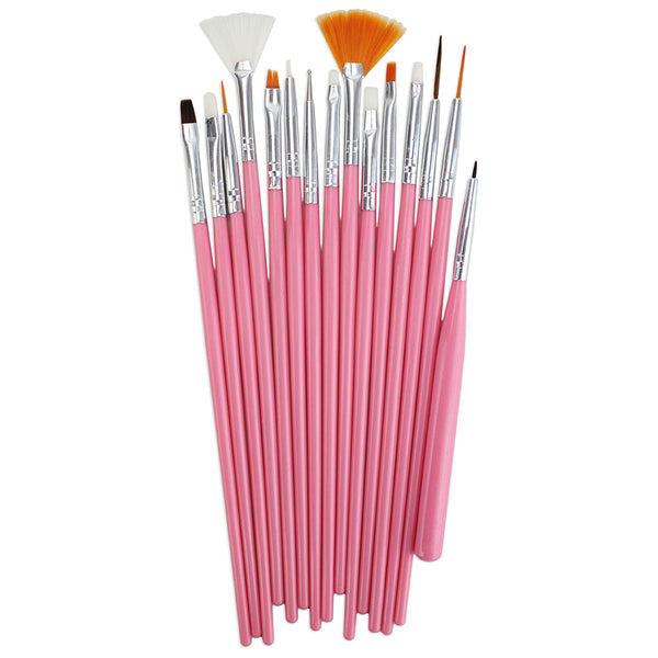 Fine Pink Paint Brush Set