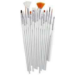 Fine White Paint Brush Set