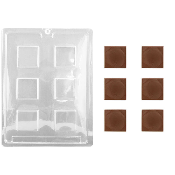 Flat Square Chocolate Mold