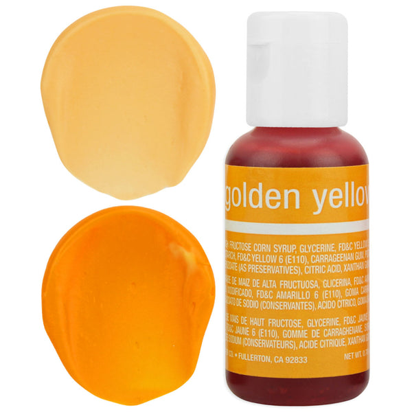 Golden Yellow Chefmaster Gel Food Coloring