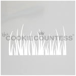 Grass Cake & Cookie Stencil