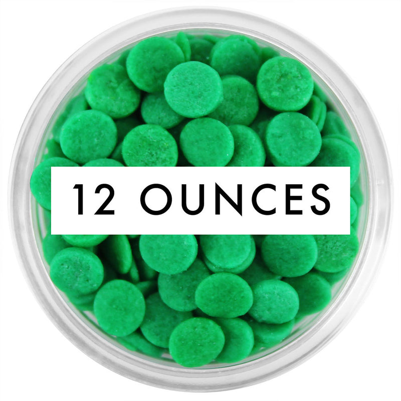 Green Confetti Dot Sprinkles 12 OZ