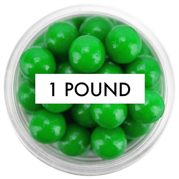 Green Sugar Pearls 8MM 1 LB