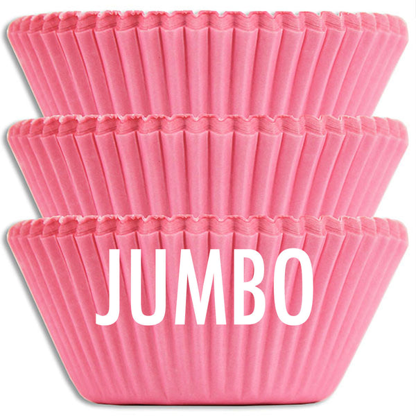 Jumbo Solid Pink Baking Cups