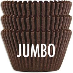 Jumbo Deep Brown Baking Cups