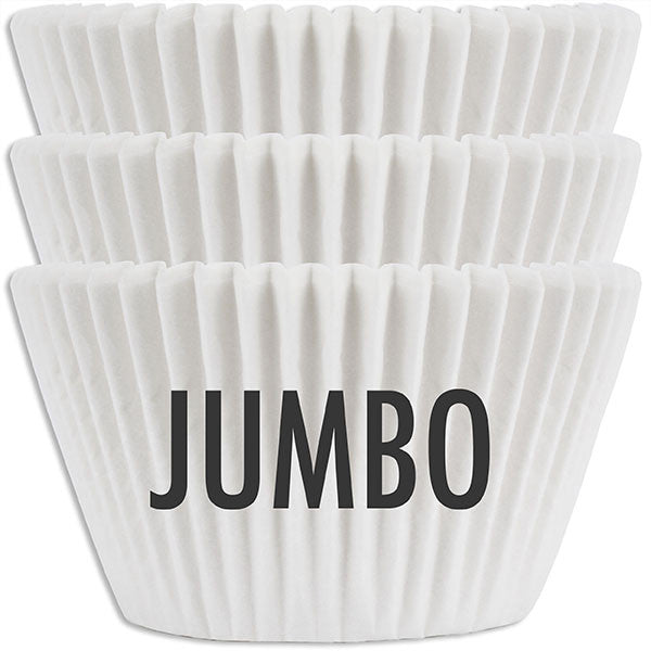 Jumbo Solid White Baking Cups