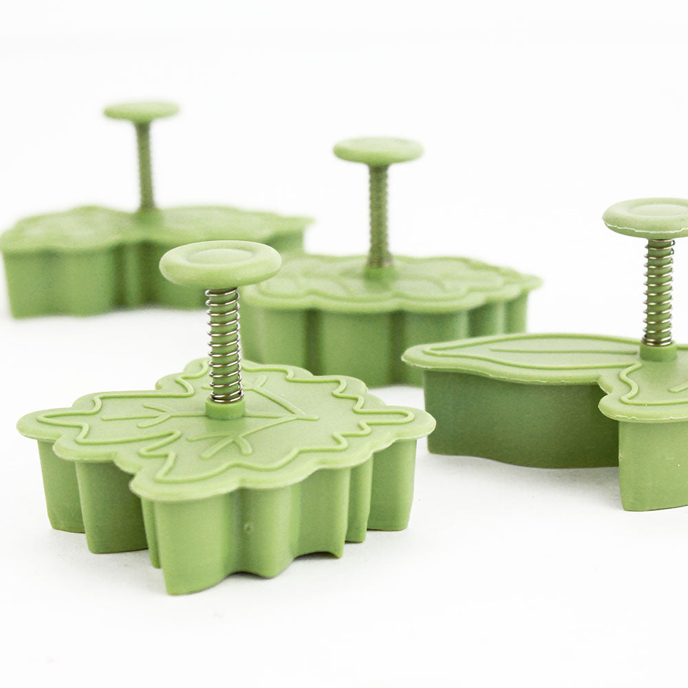 Leaf Plunger Cookie Cutter Set