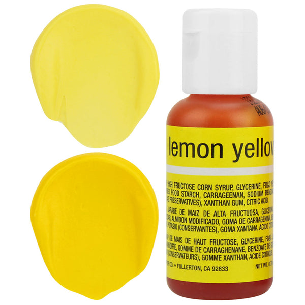 Lemon Yellow Chefmaster Gel Food Coloring