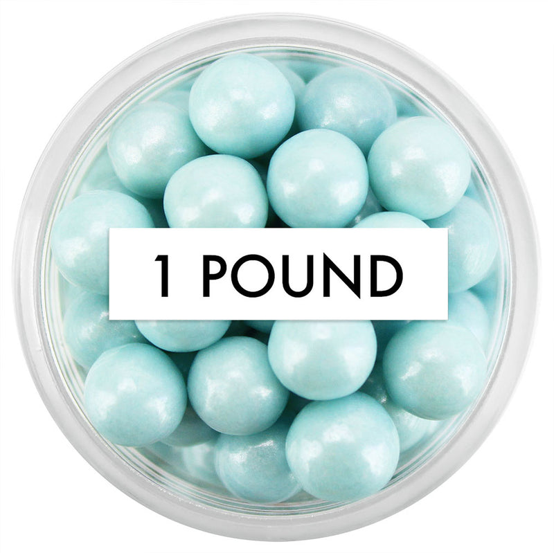 Pearly Light Blue Sugar Pearls 7MM 1 LB