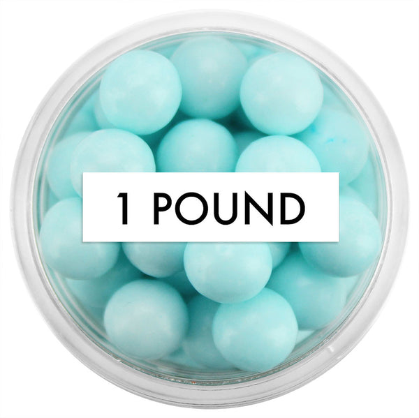 Light Blue Sugar Pearls 8MM 1 LB